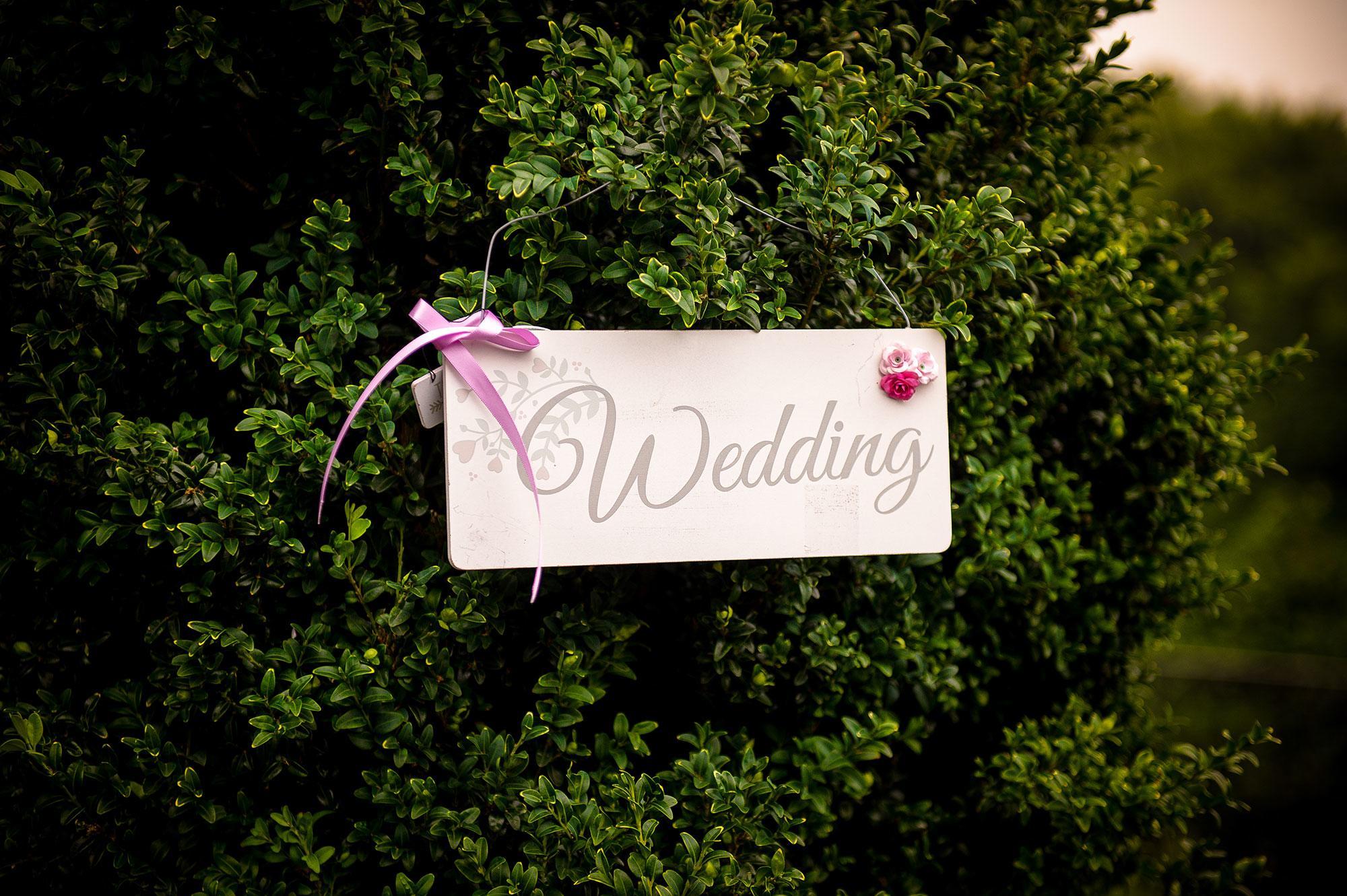 wedding-schild